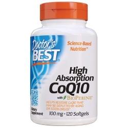 Doctor's best Koenzym Q10 Bioperine 100mg 120 gels