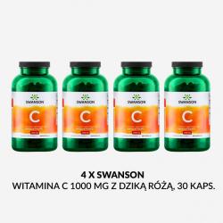 ZESTAW SWANSON Witamina C 1000 mg z Dziką różą 30 kaps.