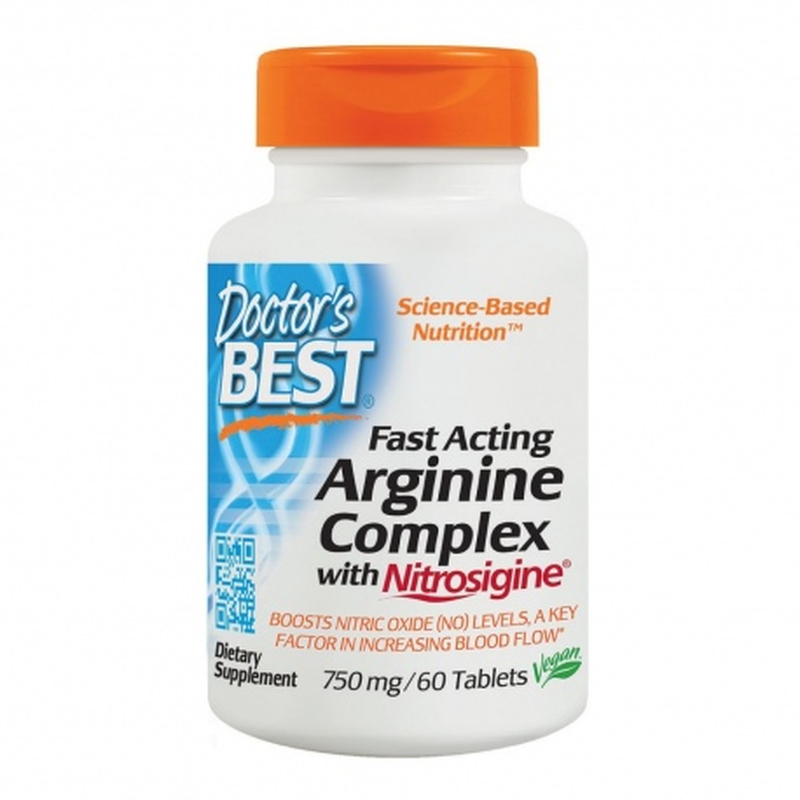 Doctor's best Fast Act.L-Arginine Coml. 750mg 60tab