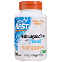 Doctors Best Ashwagandha 125mg 60 vcaps.
