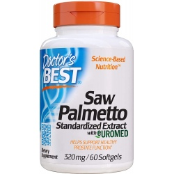 Doctor Best Saw Palmetto 320 mg 60 gels.
