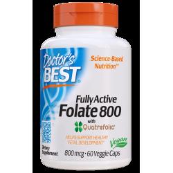 Doctors Best Folate with Quatrefolic 800mcg 60 weg.kaps.