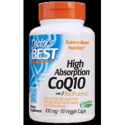 DOCTOR`S BEST Koenzym Q10 Bioperine 100mg 30 vcaps.
