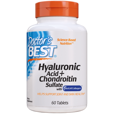 Doctors Best Hyaluronic Acid + Chondroitin Sulfate 60 tabl.