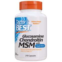 Doctors Best Glukozamina, Chondroityna + MSM 240 kaps.