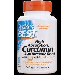 DOCTOR'S BEST Curcumin Turmeric C3 Compl. 500mg 120kaps.