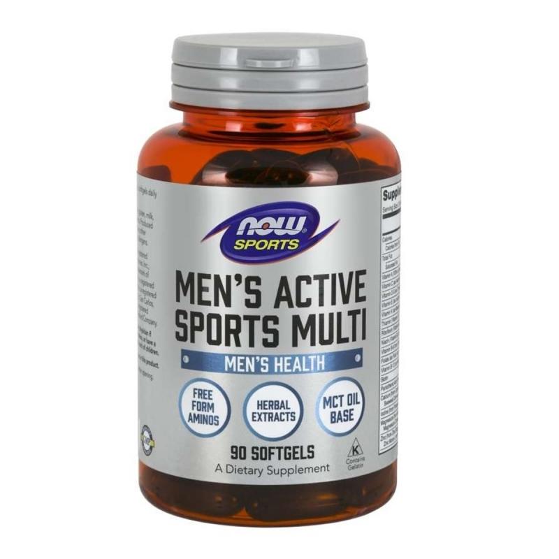 NOW FOODS Men`s Extreme Sports Multi 90 kaps.
