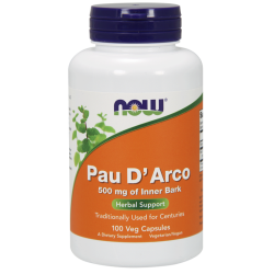 NOW Foods Pau D' Arco 500 mg 100 capsules