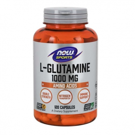 NOW Foods Glutamina 1000mg 120 kaps.