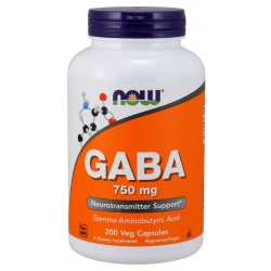 NOW FOODS GABA 750mg 200kaps.