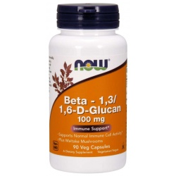 NOW FOODS Beta 1,3/1,6- D -Glucan 100mg 90 vcaps.