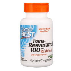 DOCTOR'S BEST Trans-Resveratrol 100mg + ResVinol 60 weg.kaps.