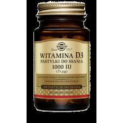 SOLGAR witamina D3 pastylki do ssania