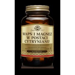 SOLGAR Cytrynian Wapnia i Magnezu 100 tabl.