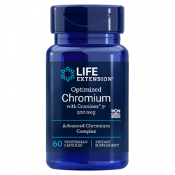 LIFE EXTENSION Optimized Chromium Crominex 3+ 500mcg 60 vcaps.