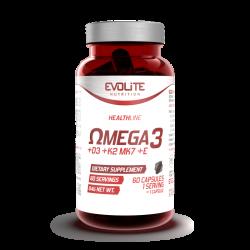 EVOLITE Omega 3 + D3+K2+E 60 kaps.