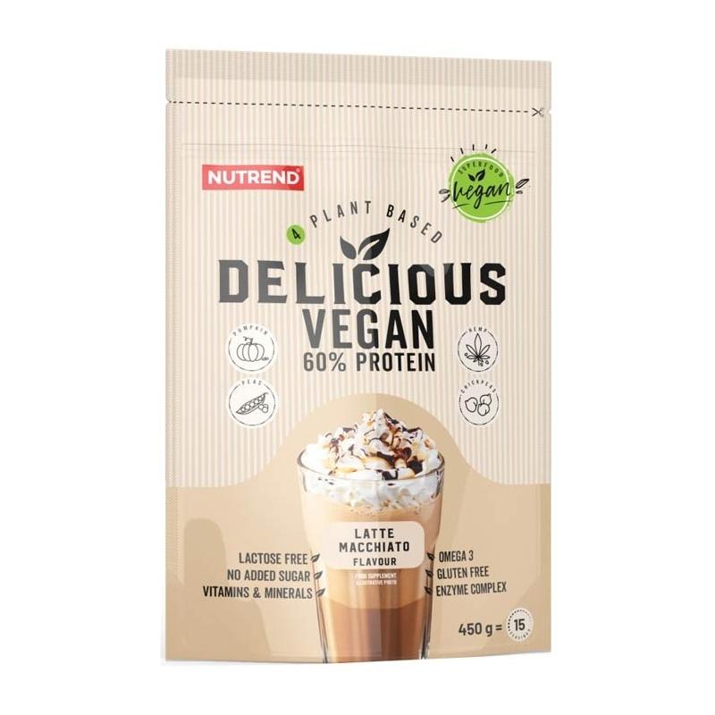 NUTREND Delicious Vegan Protein 450g Czekolada Orzech Laskowy