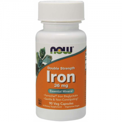 NOW FOODS Iron Chela Double Strength 36mg 90 vcaps.