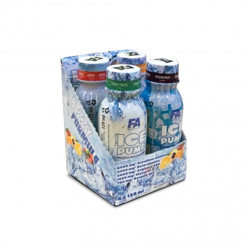 FITNESS AUTHORITY Ice Pump Shot 4x120 ml Mix Smaków