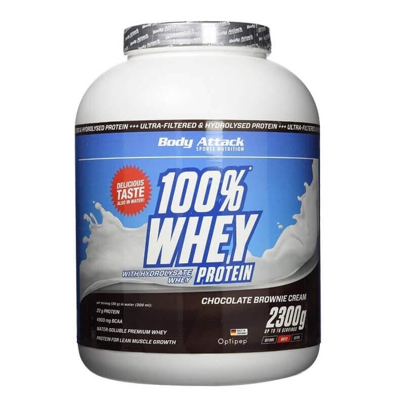 BODY ATTACK 100% Whey Protein 2,3kg Czekolada Brownie