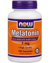 NOW FOODS Melatonina 3 mg 180 kaps.