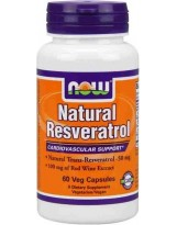 NOW Foods Natural Resveratrol 50 mg 60 kaps.