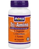 NOW Foods Tri-Amino (Arginina, Ornityna, Lizyna) 60 kaps.