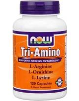 NOW Foods Tri-Amino (Arginina, Ornityna, Lizyna) 120 kaps.