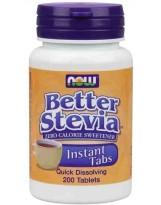 NOW Foods Better Stevia 200 tabl.