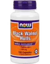 NOW FOODS Black Walnut Hulls 500 mg 100 kaps.