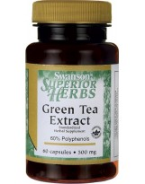 SWANSON Green Tea Extract 500 mg 60 kaps.