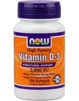 NOW Foods Witamina D-3 2000 IU 120 kaps.