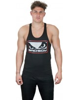 BAD BOY Tank Top Stringer Vest Black/Red