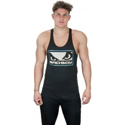 BAD BOY Tank Top Stringer Vest Black/Silver