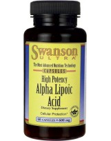 SWANSON Kwas alfa liponowy ALA 600mg 60 kaps.