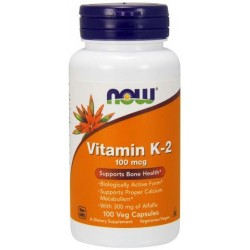 NOW FOODS Witamina K-2 100mcg 100 kaps.
