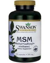 SWANSON MSM 500mg 250 kaps.