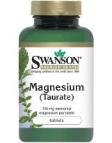 SWANSON Taurynian Magnezu 100mg 120 tabl.
