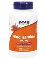 NOW FOODS Witamina B3 Niacinamide 500 mg, 100 kaps.