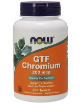 NOW FOODS GTF Chrom 200 mcg 250 tabl.