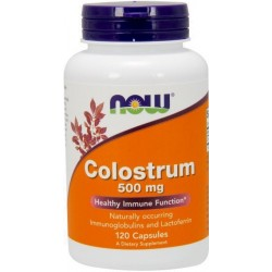 NOW Foods Colostrum 500mg 120 kaps.
