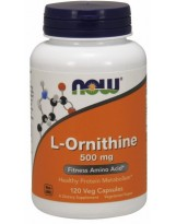 NOW Foods L-Ornityna 500 mg 120 kaps.