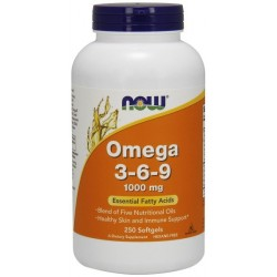 NOW Foods Omega 3-6-9 1000mg 250 kaps.