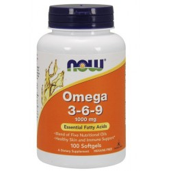 NOW Foods Omega 3-6-9 100 capsules
