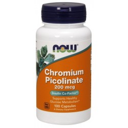 NOW Foods Chromium Picolinate 200 mg - 100 tabl.