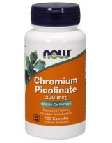 NOW Foods Chrom 200 mcg - 100 vkaps.