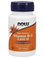 NOW Foods Witamina D-3 5000 IU 120 capsules