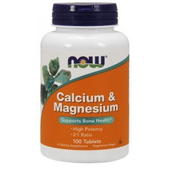 NOW FOODS Calcium & Magnesium 100 tabl.