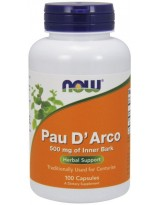 NOW Foods Pau D' Arco 500mg 100 kaps.