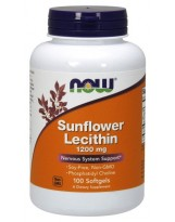 NOW Foods Sunflower Lecithin 1200 mg 100 kaps.